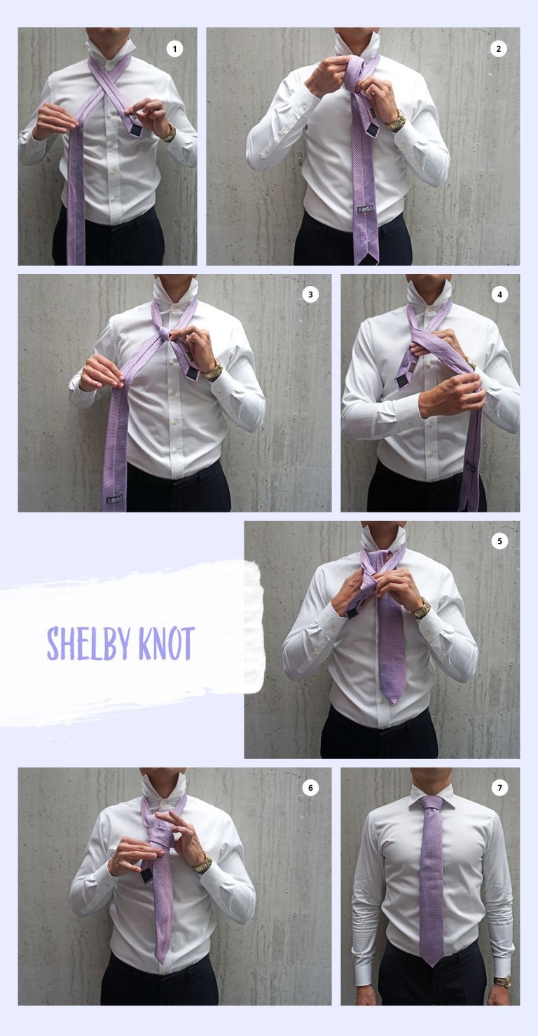Here's how to put on a tie in – step by step instructions!