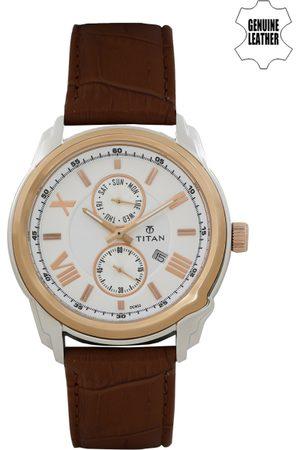 Titan Men White Dial Watch NF90006KL01J