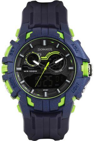 Sonata Men Analogue & Digital Chronograph Watch 77045PP04