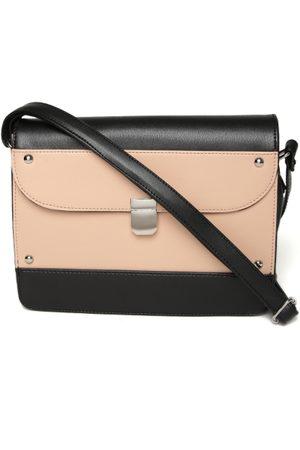 f8b3525a8c DressBerry   Peach-Coloured Colourblocked Sling Bag