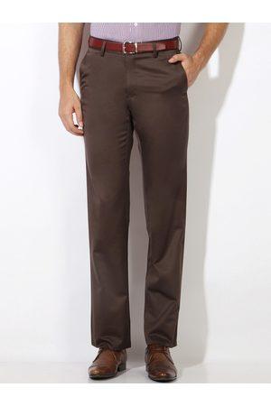 Van Heusen Men Brown Formal Trousers