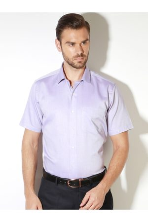 Van Heusen Men Short Sleeve - Men Slim Fit Solid Formal Shirt