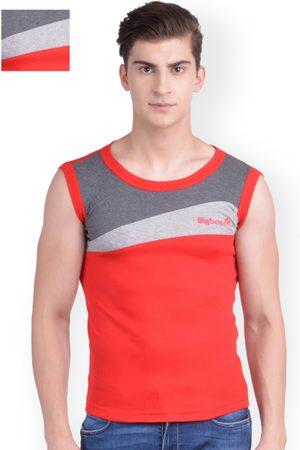 Dollar Bigboss Men Red Pack of 2 Innerwear Vests MDBB-13