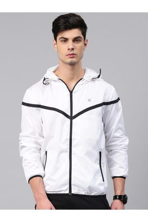 HRX Men Off-White Solid Sporty Jacket
