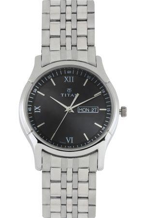 Titan Men Black Dial Watch 1636SM01
