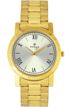 Titan Men Silver-Toned Dial Watch 1644YM01