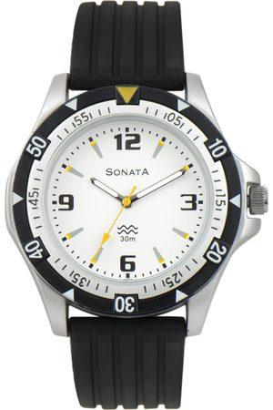 Sonata Men White Dial Analogue Watch ND7930PP01AJ