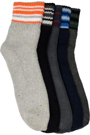 Marc Men Set of 5 Grey Ankle-Length Socks