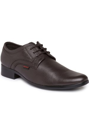 Red Chief Men Brown Leather Formal Shoes