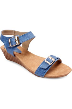 meriggiare Women Blue Solid Sandals