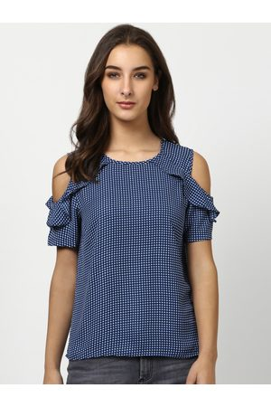 Harpa Women Blue Checked Top