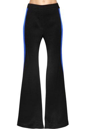 Ellery Women Wide Leg Trousers - Flared Cady Pants W/ Side Bands