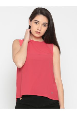 Pepe Jeans Women Red Solid A-Line Top