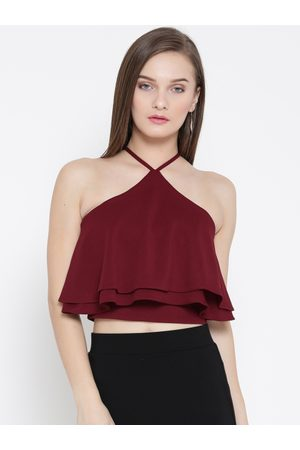 Veni Vidi Vici Women Styled Back Layered Crop Top