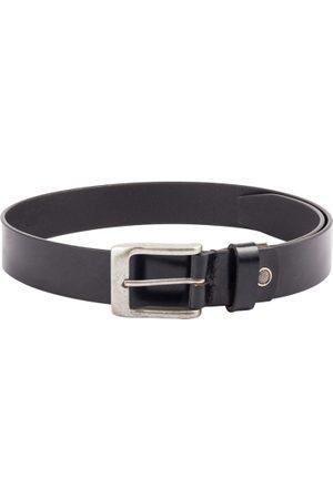 KARA Men Belts - Men Black Solid Leather Belt