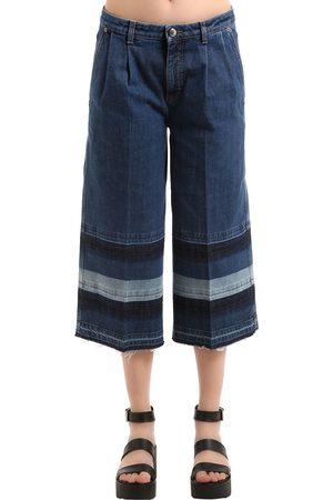 Sonia by Sonia Rykiel Denim Jeans With Striped Released Hem