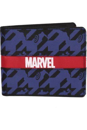 Kook N Keech Marvel Men Black & Blue Printed Two Fold Wallet