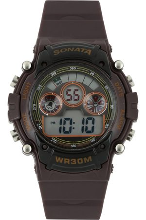 Sonata Ocean Series Men Burgundy Dial Digital Watch 77006PP03J