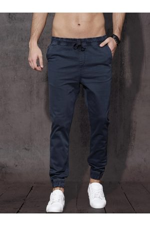 Roadster Men Navy Slim Fit Solid Joggers