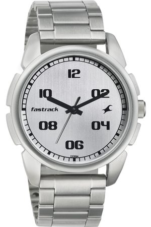 Fastrack Men Silver-Toned Dial Watch 3124SM01