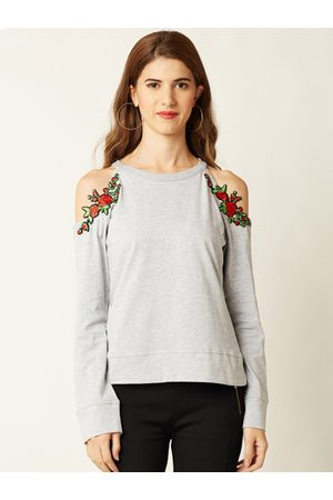 Miss Chase Women Grey Solid Top