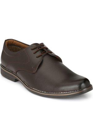 Azzaro Black Men Coffee Brown Formal Shoes