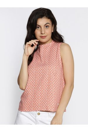 Pepe Jeans Women Tops - Women Red & White Printed Top