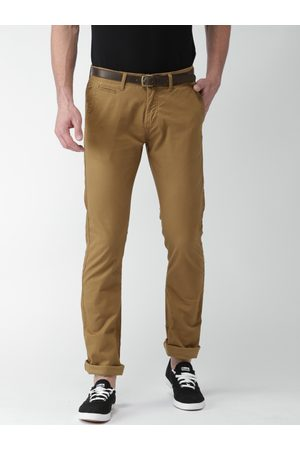 Ice-Watch Men Straight Fit Solid Chinos