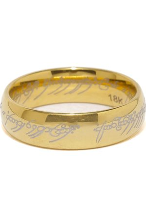 Moxie Men Gold-Toned Lord of the Stainless Steel Ring Hollywood Style 316L Stainless Steel Stainless Steel Ring