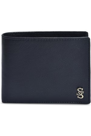 Second Skin Men Black Solid Two Fold Genuine Leather Wallet