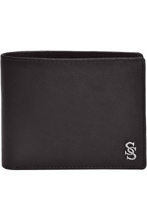 Second Skin Men Brown Solid Two Fold Wallet