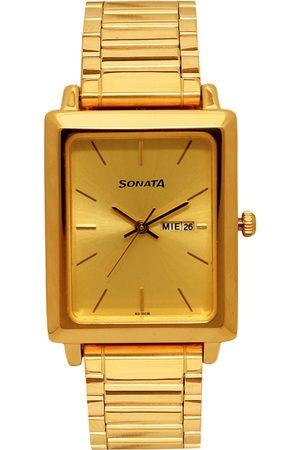 Sonata Men -Toned Analogue Watch NK7078YM04