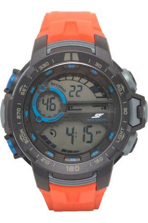 Sonata Men Watches - Men Orange & Grey Analogue Watch 77074PP04