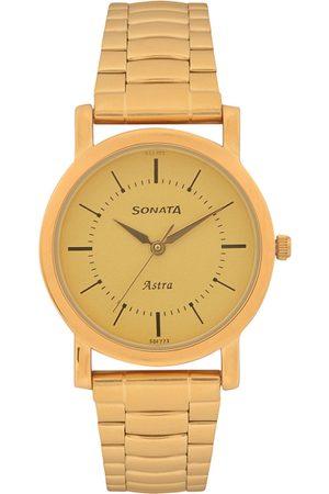 Sonata Men Gold-Toned Analogue Watch 77049YM01C 77049YM01C