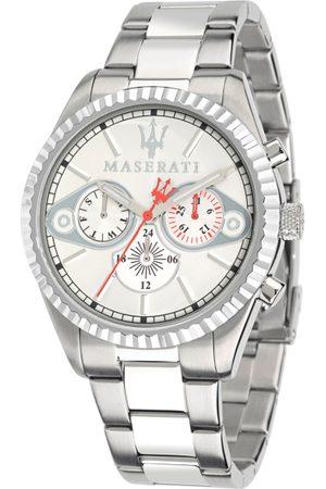 Maserati Men White & Silver-Toned Analogue Watch