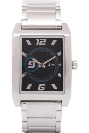 Sonata Men & Silver-Toned Analogue Watch
