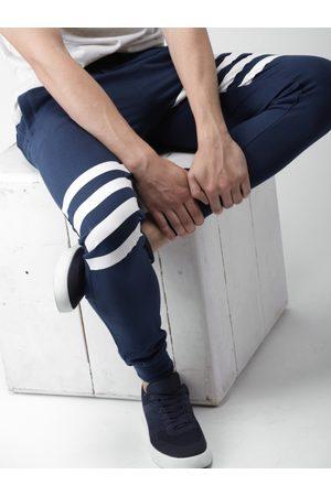 HARVARD Men Navy Blue Regular Fit Solid Joggers