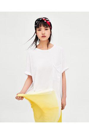 Zara OVERSIZED TEXTURED T-SHIRT