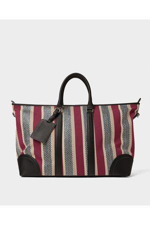 Zara MULTICOLOURED FABRIC BOWLING BAG