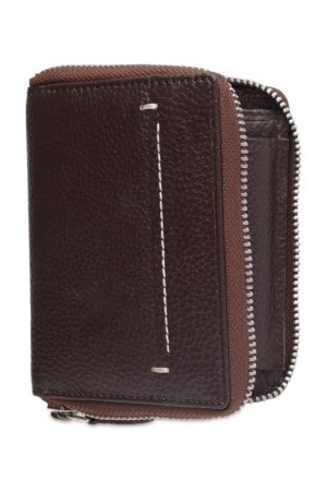 Teakwood Leathers Men Textured Two Fold Leather Wallet