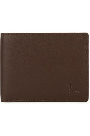 Pacific Men Brown Solid Two Fold Leather Wallet