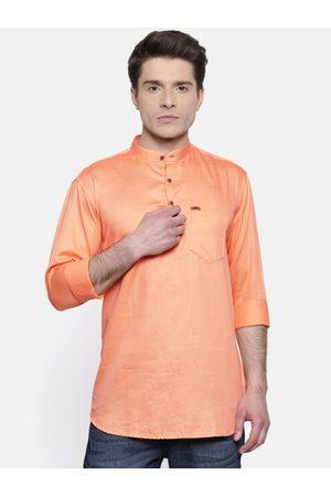 RG DESIGNERS Men -Coloured Slim Fit Solid Straight Kurta