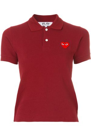 Comme des Garçons Logo embroidered cropped polo shirt