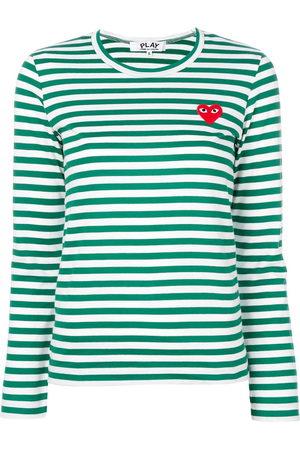Comme des Garçons Striped longlseeved T-shirt