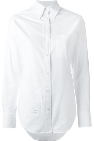 Thom Browne Women Long Sleeve - Classic Long Sleeve Button Down Point Collar Shirt In Oxford