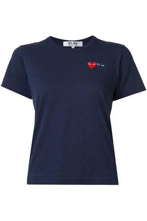 Comme des Garçons Women Short Sleeve - Embroidered heart T-shirt