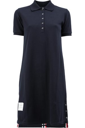 Thom Browne Striped Pique Polo Dress