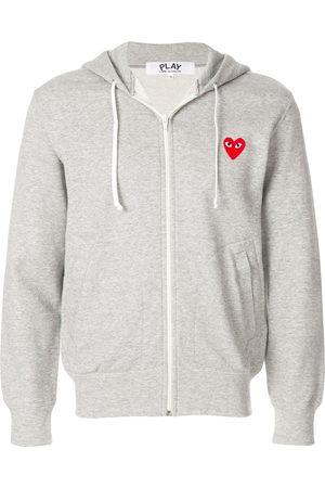 Comme des Garçons Men Hoodies - Heart patch hoodie