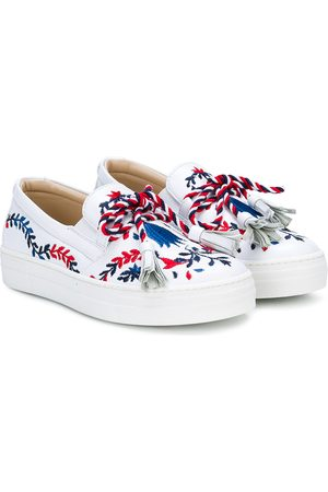 ERMANNO SCERVINO JUNIOR Embroidered tassel sneakers