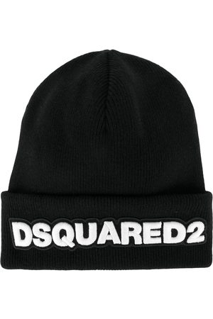 Dsquared2 Men Beanies - Logo patch ribbed beanie